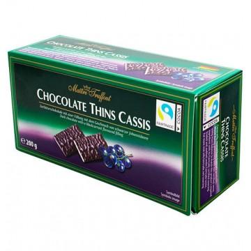 Конфеты Maitre Truffout Chocolate Thins Cassis, со смородиной (200 г)