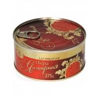 Икра горбуши Ikrof красная малосоленая янтарная 275 грамм ж/б