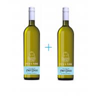 Набор вина Pete's Pure Pinot Grigio (0,75 л) + Pete's Pure Pinot Grigio (0,75 л)
