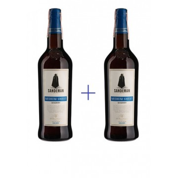 Набор Sandeman Jerez, Medium Sweet 0,75 л + Sandeman Jerez, Medium Sweet 0,75 л