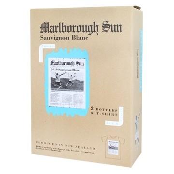 Набор Вина Sauvignon Blanc Marlborough Sun (0.75 л)+ Sauvignon Blanc Marlborough Sun, Saint Clair (0,75 л) + футболка