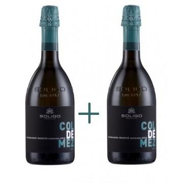 Набор Col de Mez Prosecco Valdobbiadene Brut 0,75 Л + Col de Mez Prosecco Valdobbiadene Brut 0,75 Л Soligo