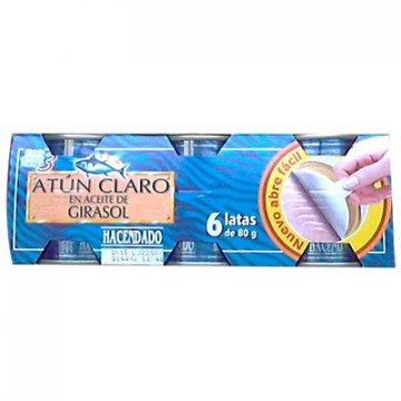 Тунец Atun Claro En Aceite De Girasol Hacendado, 80 гр