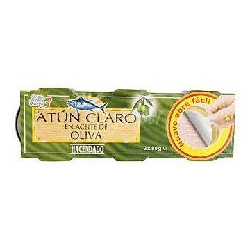 Тунец Atun Claro En Aceite De Oliva Hacendado, 80 гр