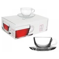 Чайный сервиз с блюдцем Pasabahce Basic 240 мл  6 шт.