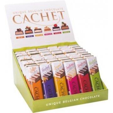 Шоколадный батончик Cachet Feuilletine Hazelnut White Chocolate, 75 г