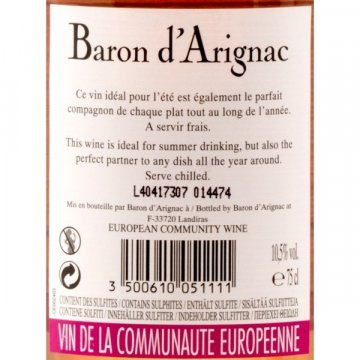 Вино Baron d'Arignac Rose (0,75 л)