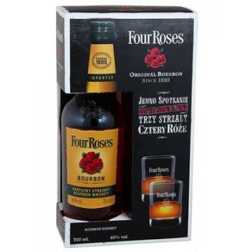 Виски Four Roses + 2 стакана (0,7 л)