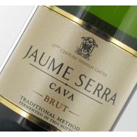 Игристое вино Cava Jaume Serra Brut (0,75 л) GB + 2 фужера