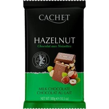 Премиум шоколад Cachet Milk Hazelnut (300 г)