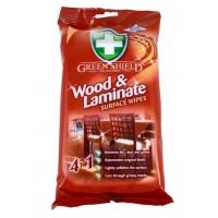 Влажные салфетки Green Shield для дерева и ламината, 50 шт