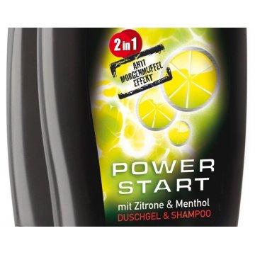 Гель для душа Dusch Das Power Start mit Zitrone&Menthol, 250 мл