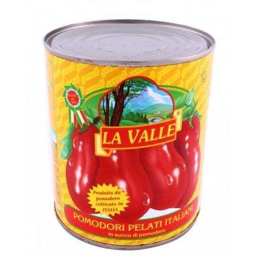 Очищенные помидоры в собственном соку La Valle, 800 г