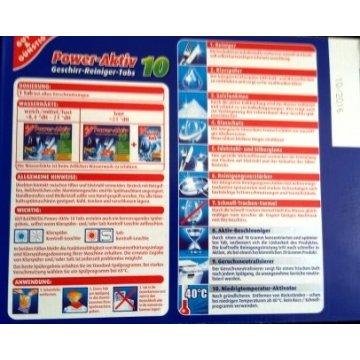 Таблетки для посудомоечных машин Gut&Gunstig Power-Aktiv All in 1, 40 шт