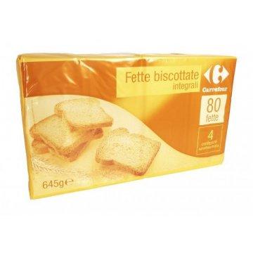 Тосты Carrefour Fette Biscottate Integrali, 645 г