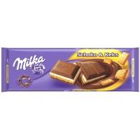 Шоколад Milka Schoko & Keks, 300 г