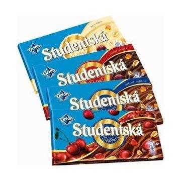 Шоколад Studentska белый с изюмом, 180 гр