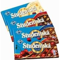 Шоколад Studentska черный с изюмом, 180 гр