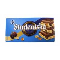 Шоколад Studentska бело-молочный с изюмом, 180 г