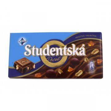Шоколад Studentska молочный с изюмом, 180 г