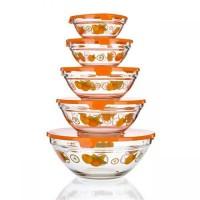 Набор: 5 мисок с крышкой Naranjas