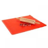 Коврик силиконовый 60х50 см красный Culinaria