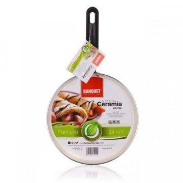 Сковорода для блинов 24 см Culinaria зеленая