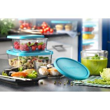 Емкость для продуктов Bormioli Rocco Frigoverre Basic голубая, 15х15