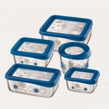 Емкость для продуктов Bormioli Rocco Frigoverre Fun 19х19 голубая