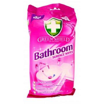 Влажные салфетки Green Shield для ванной комнаты, 50 шт