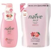 Шампунь для сухих волос с экcтрактом персика и маслом шиповника Naive NEW DESIGN