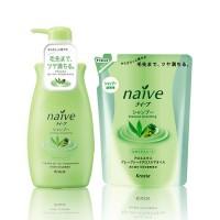 Шампунь для нормальных волос с экcтрактом алоэ и маслом виноградных косточек Naive
