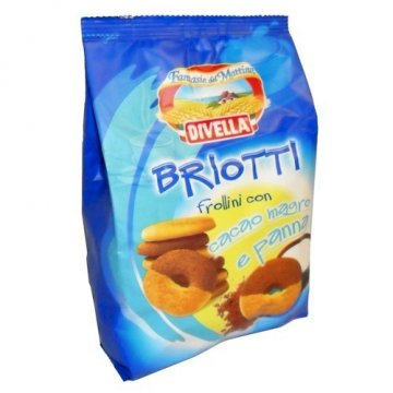 Печенье Divella Frollini Briotti pan/cacao, 400 г