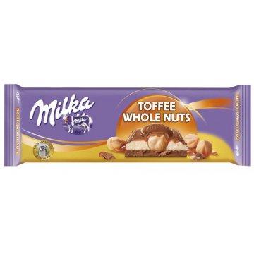 Шоколад Milka Toffee Wholenut (300 г)