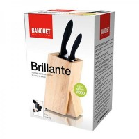 Колода для ножей Banquet деревянная со щетинками