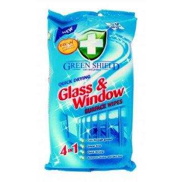 Влажные салфетки Green Shield для стекла и окон, 50 шт