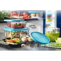 Емкость для продуктов Bormioli Rocco Frigoverre Basic голубая 13х10