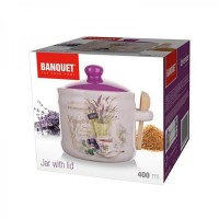 Сахарница с ложкой Banquet Lavender, 400 мл