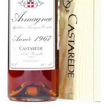 Коньяк Armagnac Castarede, wooden box, 1967 (0,7 л)