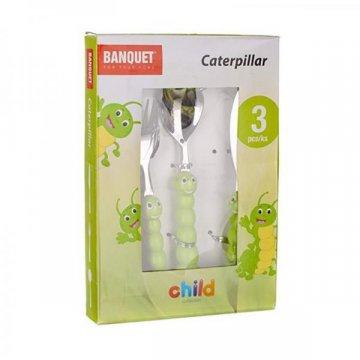 Набор детских столовых приборов Banquet Гусеница