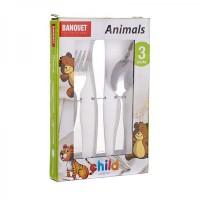 Набор детских столовых приборов Banquet Животные (3 пр.)