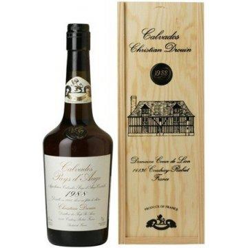 Водка Calvados Coeur de Lion Pays d'Auge, wooden box, 1988 (0,7 л)