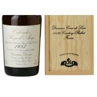 Водка Calvados Coeur de Lion Pays d'Auge, wooden box, 1987 (0,7 л)