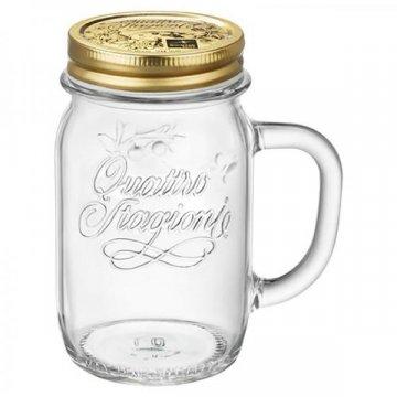 Чашка с крышкой Bormioli Rocco Quattro Stagioni, 415 мл