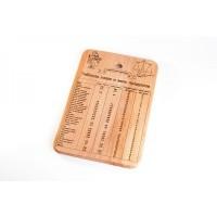 Доска деревянная 20х30 см Таблица веса