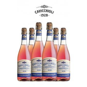 Игристое вино GIV, Cavicchioli Lambrusco Rosato  Emilia dolce (0.75 л)
