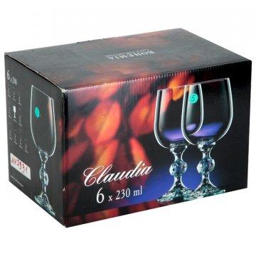 Набор бокалов для вина Bohemia Claudia 230 мл, 6 шт.
