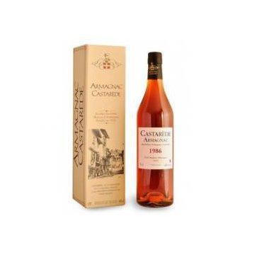 Коньяк Armagnac Castarede, wooden box, 1986 (0,7 л)