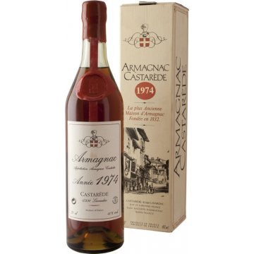 Коньяк Armagnac Castarede, wooden box, 1974 (0,7 л)