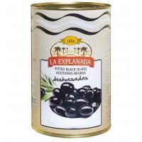 Оливки La Explanada (черные без косточки), 350 г (Оливки)
